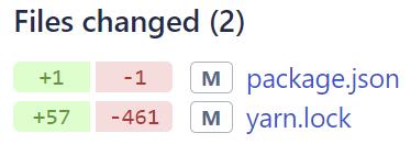 Poměr změn při čisté migraci z node-sass na sass (za screenshot díky Honzovi Kryšpínovi!)